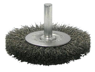 Weiler® Crimped Wire Radial Wheel Brush, 2 1/2 in D, .014 in Steel Wire, 20,000 rpm, 17962