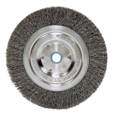 Weiler® Vortec Pro® Crimped Wire Wheel, 6 in D, Med., .014 Wire, 6,000 rpm, Retail Pk, 36003