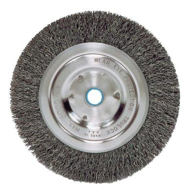 Weiler® Vortec Pro® Crimped Wire Wheel, 5 in D, .006 Carbon Steel, 6,000 rpm, Retail Pk, 36064