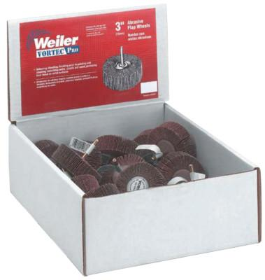 Weiler® Abrasive Flap Wheel Countertop Displays, 3 in, Grit, 36502