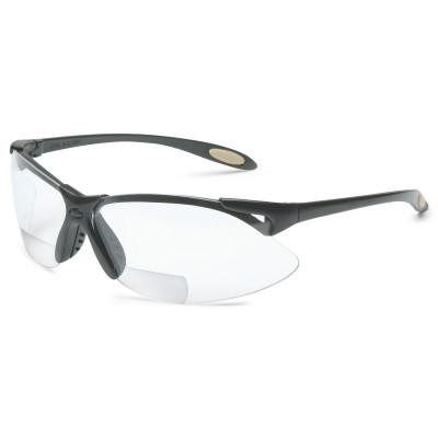 North by Honeywell A900 Reader Magnifier Eyewear, +2.0 Diopter Polycarb Hard Coat Lenses, Blk Frame, A951
