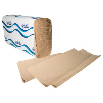 Windsoft® Folded Hand Towels, Multi-Fold, Brown, WIN1040