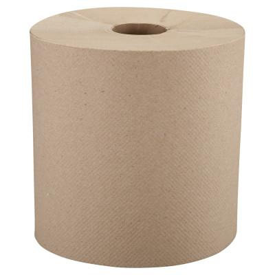 "Windsoft® Nonperforated Roll Towels, 8"" x 800ft, Brown, WIN12806"