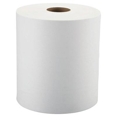 "Windsoft® Nonperforated Roll Towels, 1-Ply, White, 8"" x 800ft, WIN12906"