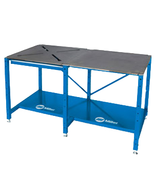 "Miller 951170 - 30"" X 60"" X 3/8"" Solid Steel Combo Tabletop Workbench Package - AMMC"