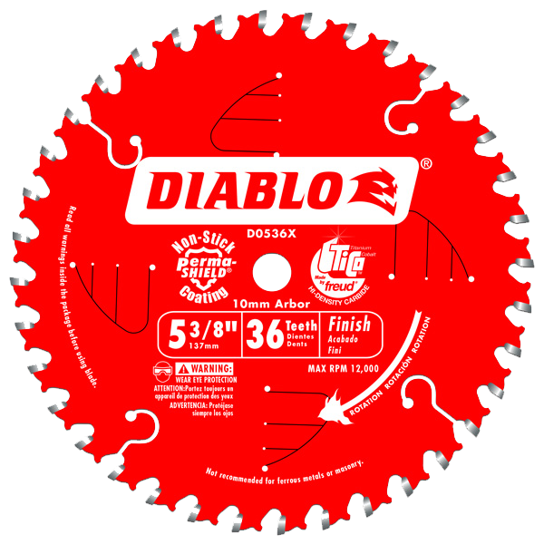 Diablo 5-3/8 in. x 36 Tooth Trim Saw Blade - AMMC