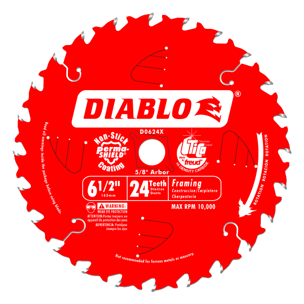 Diablo 6-1/2 in. x 24 Tooth Framing Saw Blade - AMMC