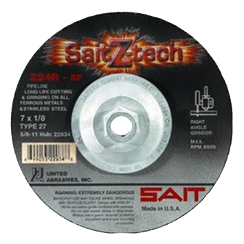 "SAIT Z-tech Z24R Type 27 1/4"" Grinding Wheels - AMMC"