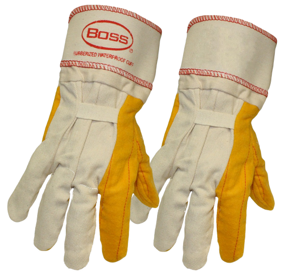 Boss 1BC28372 - 2 Ply Yellow Chore  with Rubberized Safety Cuff - AMMC - 1
