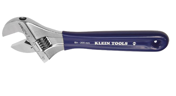 Klein Tools D509-8 Extra-Wide Jaw 8'' Adjustable Wrench - AMMC