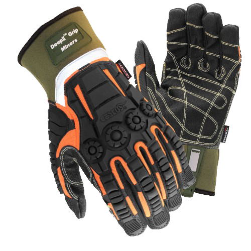 Cestus Gloves 8025 Deep II Grip Miners - AMMC - 1