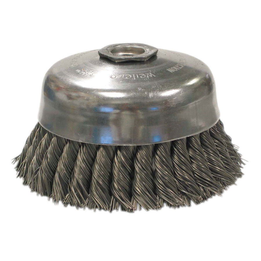 Weiler General-Duty Stainless Steel Knot Wire Cup Brush - Various ...