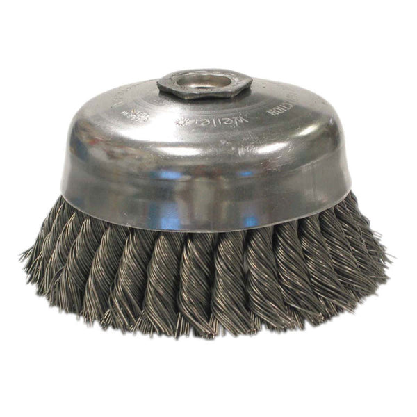 Weiler General-Duty Steel Knot Wire Cup Brush - Various Sizes - AMMC