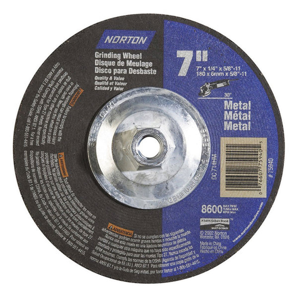 Norton Depressed Center Metal & Masonry Wheel - AMMC