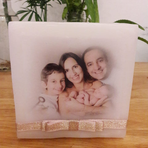 bespoke wax lanterns with your own image