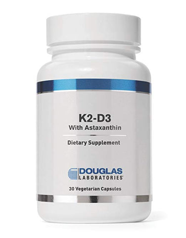 Douglas Laboratories - K2-D3 With Astaxanthin - 30 Capsules (Dietary Supplement)