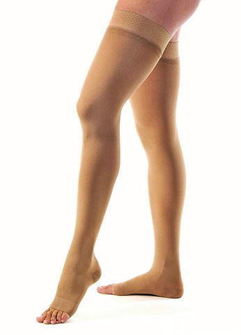 JOBST Relief Thigh High 15-20 mmHg Compression Stockings - Open Toe - Beige