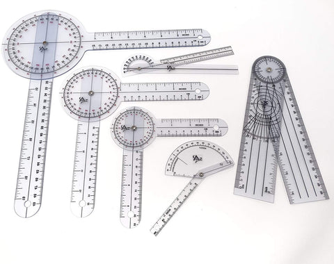 Flexion Goniometer Protractors (Set of 6)
