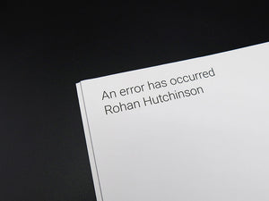 Rohan Hutchinson – An error has occurred (Special Edition with Signed Prints)