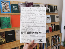 Load image into Gallery viewer, Gustav Metzger - Auto-Destructive Art: Metzger at AA