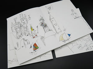 Saul Steinberg - 4 Leporellos: The Line / Types of Architecture / Shores of the Mediterranean / Cities of Italy (Rare)