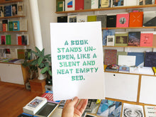 Load image into Gallery viewer, Félicia Atkinson - A book stands un-open, like a silent and neat empty bed