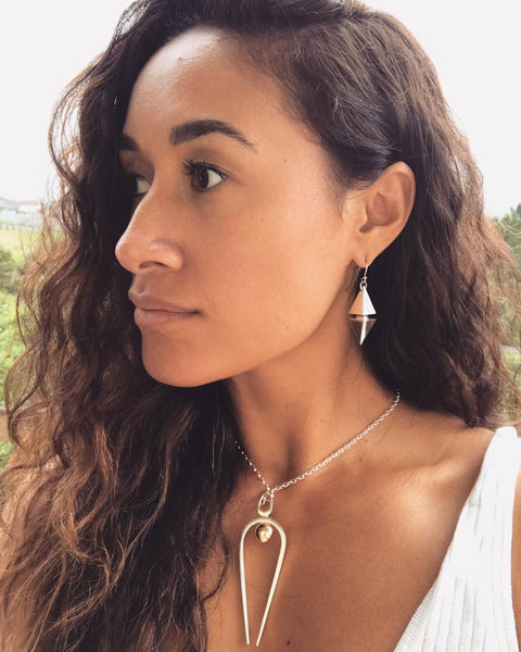Maria Tutaia Wears Black Matter Jewellery