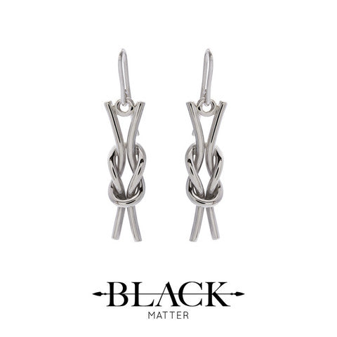 Reef Knot Earrings by Black Matter, Made in New Zeaalnd