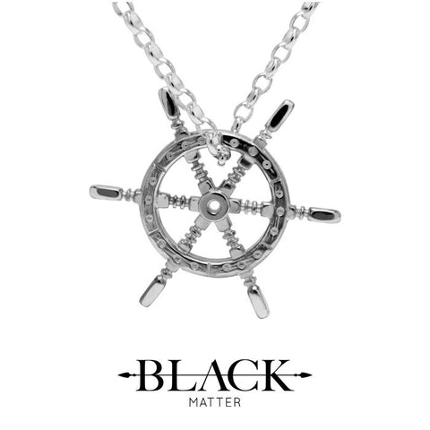 Nautical: Helm Pendant in Polished Silver