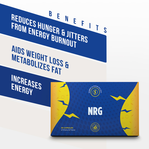 TLC - Natural Energy Boost and Weight Loss Supplement - NO Jitters - 30 Capsules