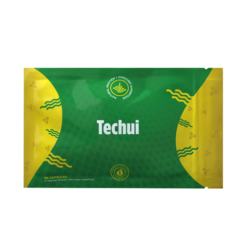 TLC IASO Techui: 100% Pure Spirulina Extract SuperFood Protein Supplement | 90 Capsules - Packaging May Vary 2019