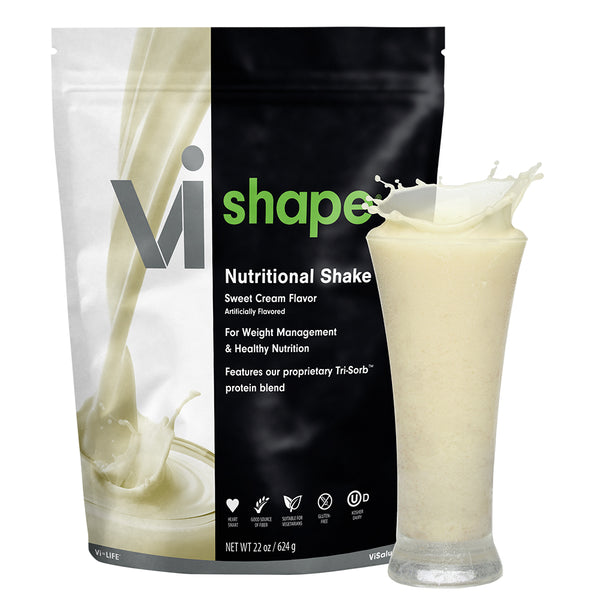 ViSalus Vi-Shape Nutritional Shake Mix (24 Serving Pouch) Sweet Cream Flavor - The Shake-Mix That Tastes Like Cake-Mix
