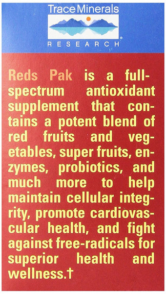 Trace Minerals Reds, 0.23 Ounce, 30-Count