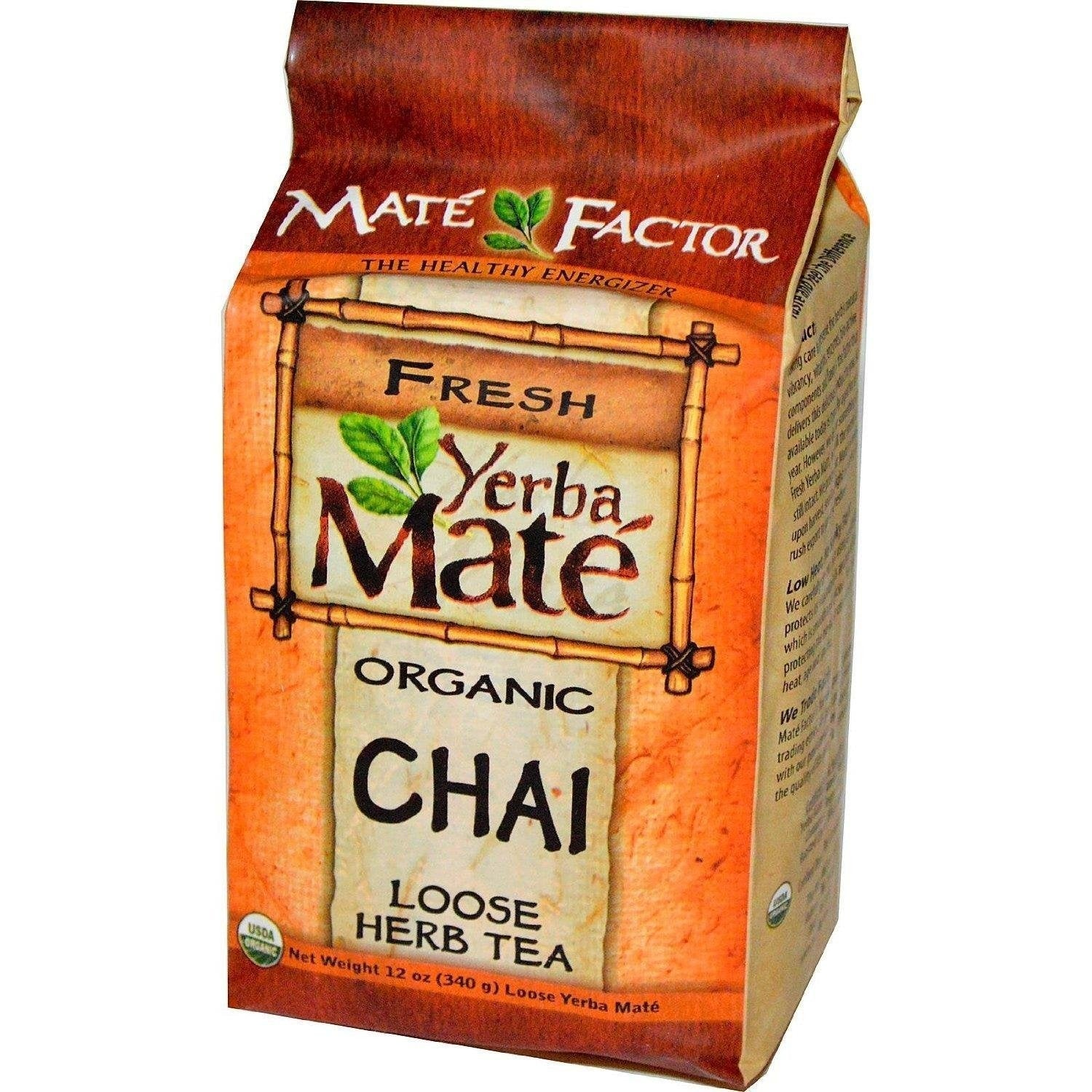 Mate Factor Yerba Organic Chai Loose, 12 Ounce