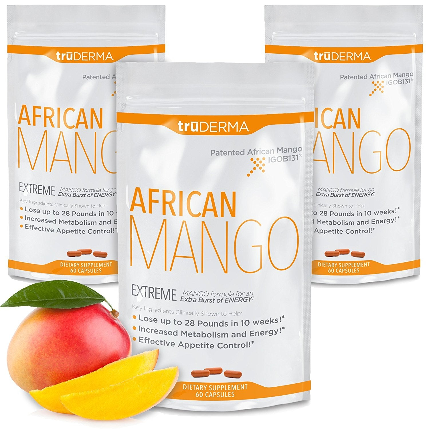 truDERMA Extreme African Mango Extract: Advanced Weight Loss Supplement Plus Pure Irvingia Gabonensis...