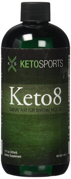 KetoSports Keto8 Dietary Supplement, 12 Fluid Ounce