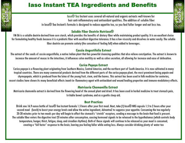 iaso instant weight loss tea - 60 count