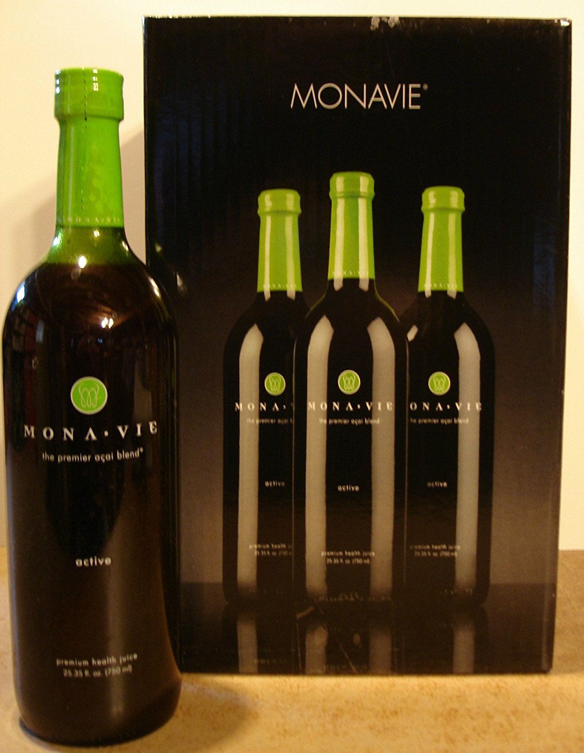 Monavie Active Juice (4 Bottles) Acai Berry