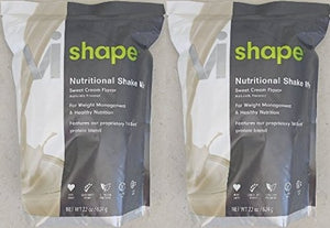 ViSalus Vi Shape Weight Loss Diet Nutritional Shake Mix Meal Replacement Sweet Cream Flavor 22 oz (2 Bags, 48 meals)