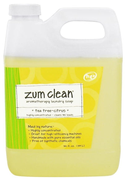 Indigo Wild Zum Clean Laundry Soap, Tea Tree-Citrus, 32 Fluid Ounce