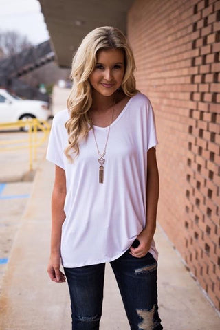 White Boyfriend women's v neck
