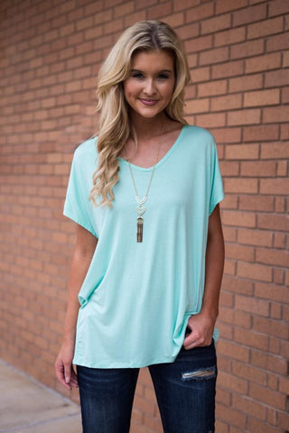 Mint Boyfriend women's v neck
