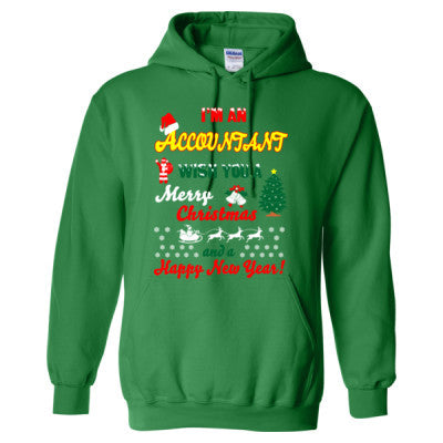 Christmas Accountant.I Am An Accountant Merry Christmas And Happy New Year Heavy Blend Hooded Sweatshirt