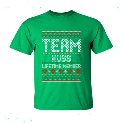 Team Ross Lifetime Member Ugly Christmas Sweater Ultra Cotton T