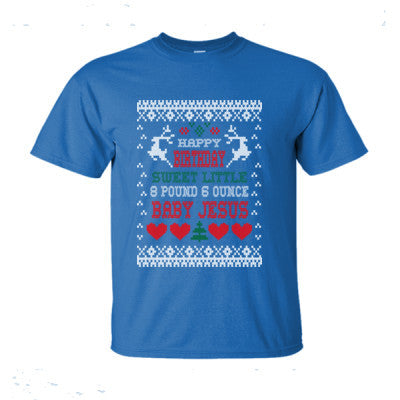 Sweet Little 8 Pound 6 Ounce Baby Jesus Christmas Ugly Sweater