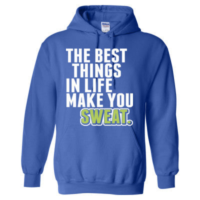 Picture all the best things in life make you sweaty sweatshirt
