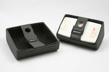 I-Pass Holder (Square, Pre 2012) - Lamborghini Cuoio Olympus