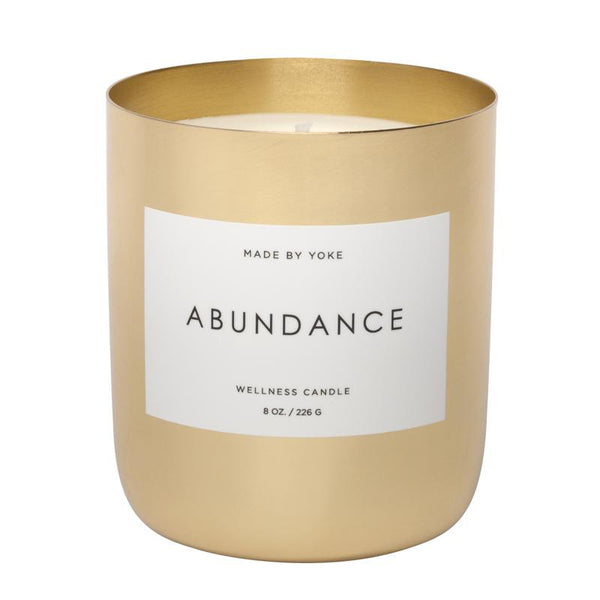 Buy Abundance Wellness Candle | Tonka Vanilla Musk Candle | Made By Yoke