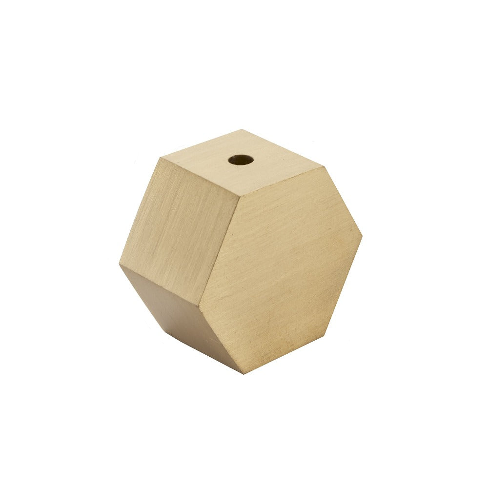 Octagon Brass Incense Holder
