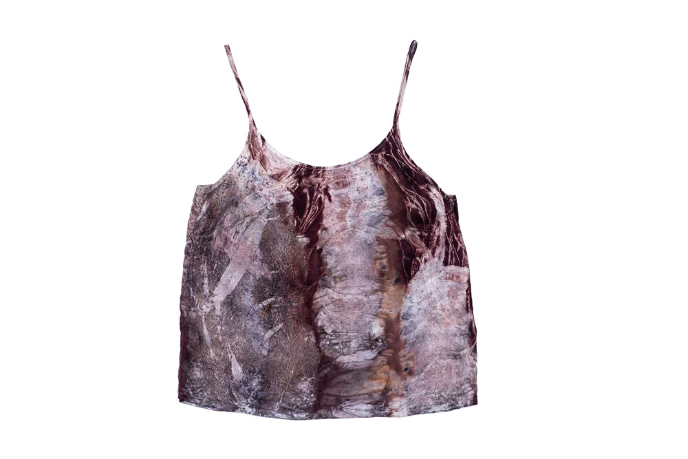 L - Bush Dyed Silk Cami by Letoria Yulidjirri
